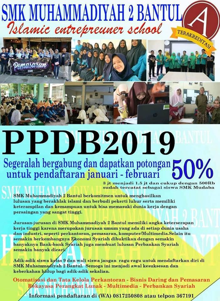 Informasi PPDB 2019/2020 Gelombang I