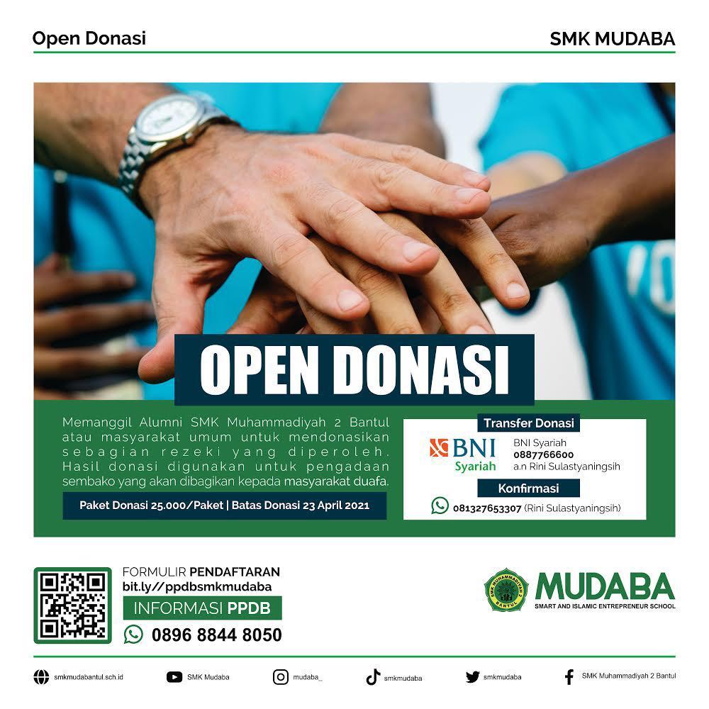 Open Donasi SMK MUDABA
